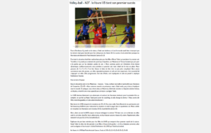 2015/2016 : Match aller N2F face à LHVB Article Paris Normandie